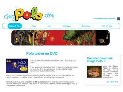 écran du site chezpolo.com