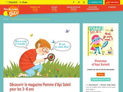 écran du site pommedapisoleil.com