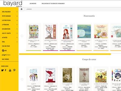 écran du site bayard-editions.com