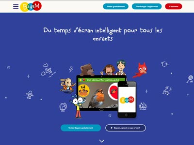 écran du site bayam.tv