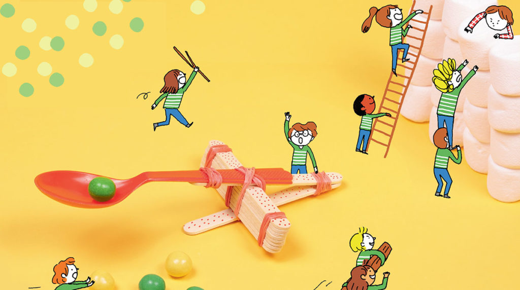 Bricolage de la catapulte à bonbons. Astrapi.