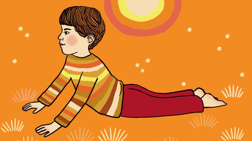 """Yoga : la posture du """"Lion qui rugit""""."""