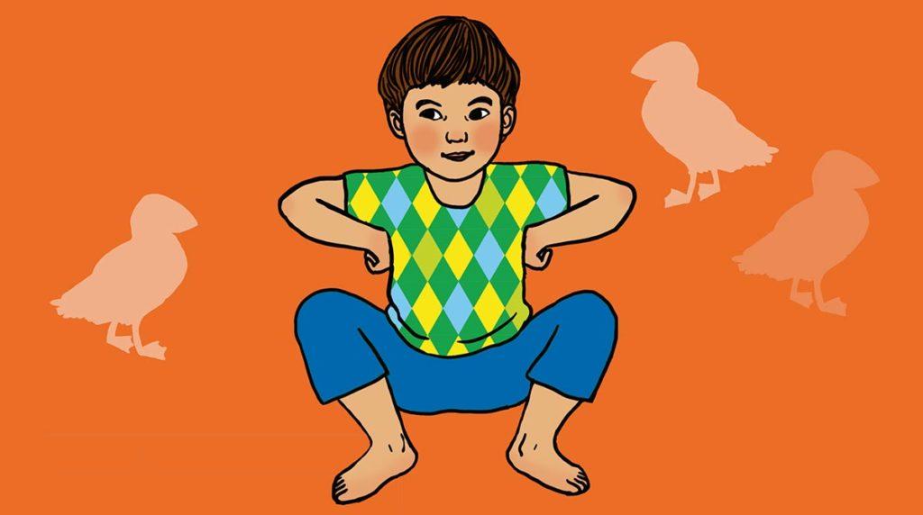 """Yoga : la posture """"Comme un oiseau""""."""