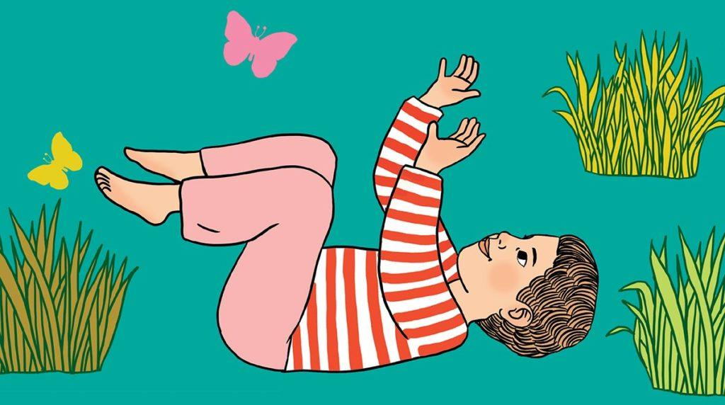 """Yoga : la posture du """"Bain du petit cochon""""."""