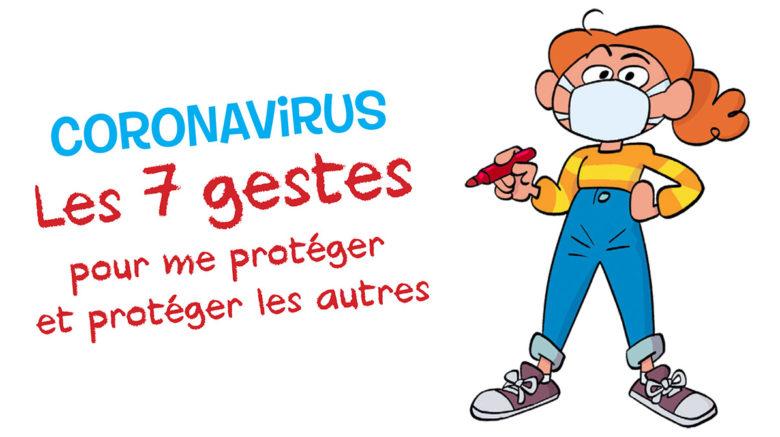 Coronavirus et gestes barrières expliqués auxenfants