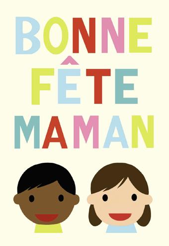 Bonne fête Maman, carte postale à imprimer d'Edouard Manceau