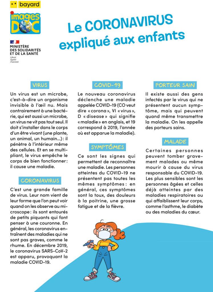 Lexique Images Doc, le Coronavirus expliqué aux enfants