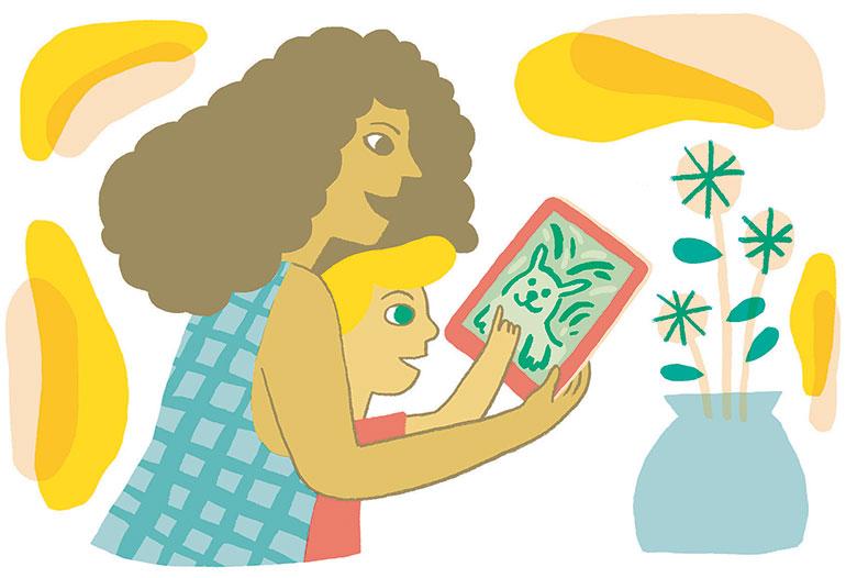 Donner du sens aux écrans. Illustration : Charline Giquel.