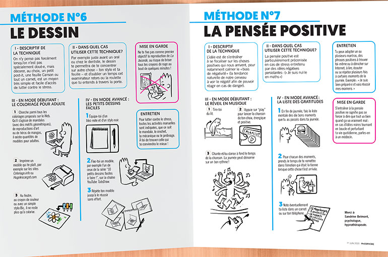 Ton kit anti-stress, méthodes n°6 et n°7 : le dessin et la pensée positive
