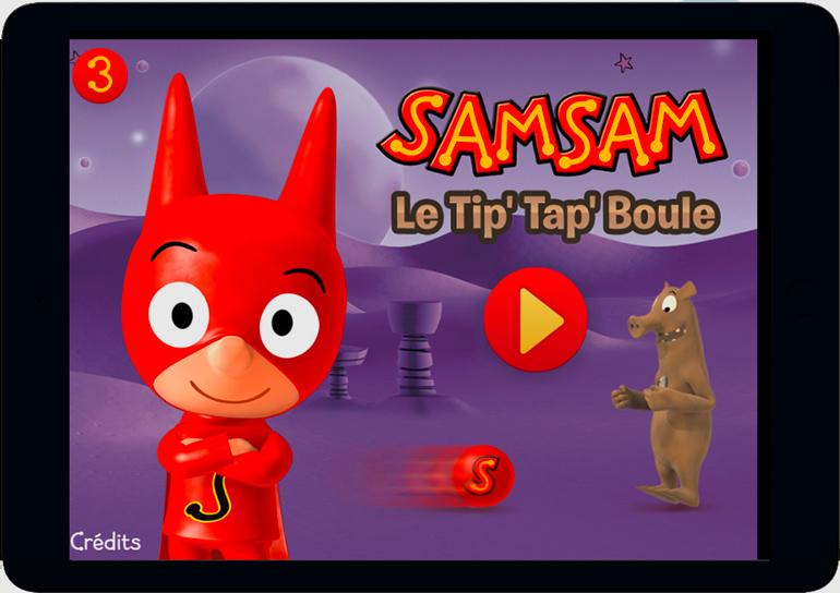 Des jeux ludo-éducatifs pour faire travailler ses méninges : SamSam - Le Tip'Tap'Boule.
