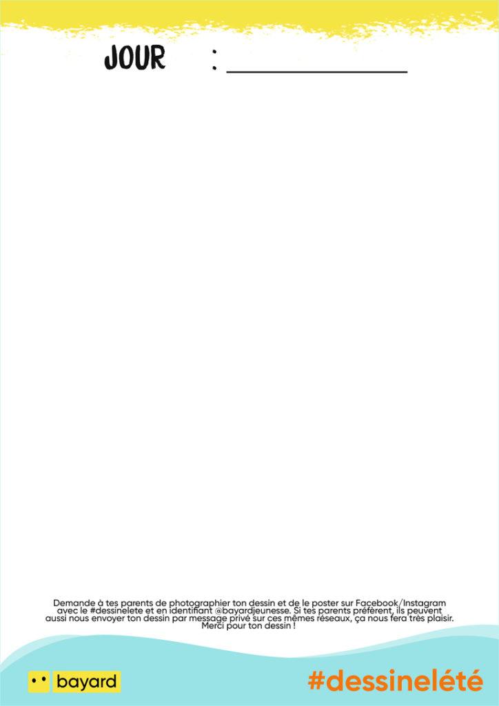 Un été avec Bayard Jeunesse : notre feuille de dessin.