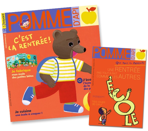 Couverture du magazine Pomme d'Api et son supplément pour les parents, n°655, septembre 2020