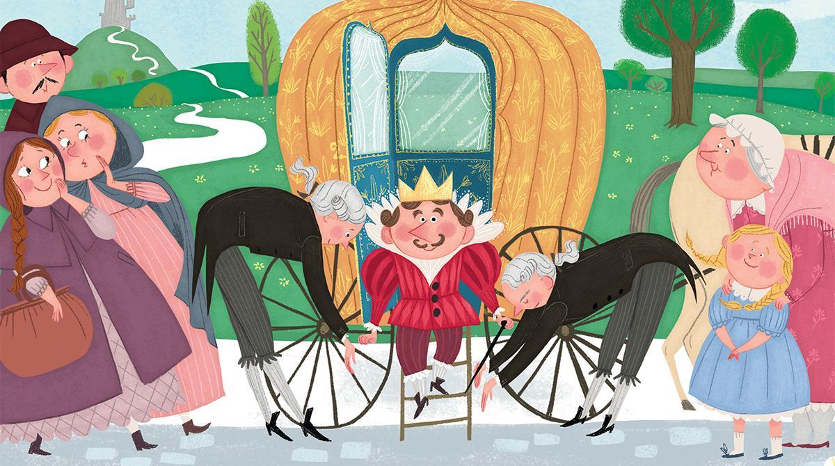 """Illustration : Pauline Duhamel, Les Belles Histoires n°543. """"Le fils du grand petit roi"""", écrite par Marie-Hélène Delval."""