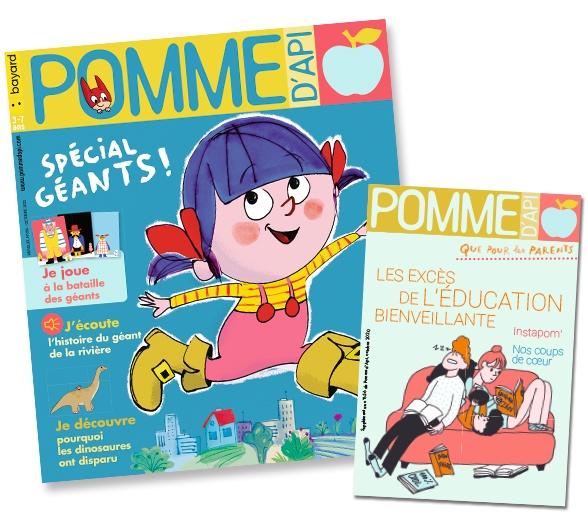 Couverture du magazine Pomme d'Api et son supplément pour les parents, n°656, octobre 2020