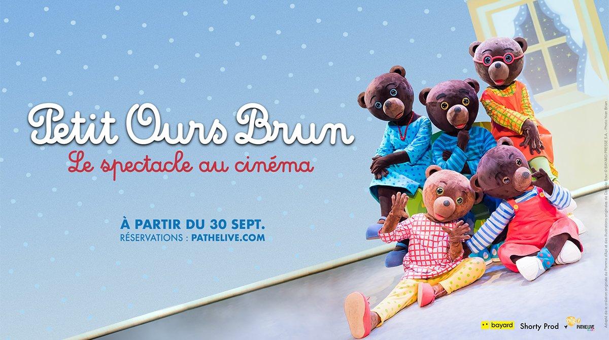 """""""Petit Ours Brun - Le spectacle au cinéma"""" à partir du 30 septembre"""