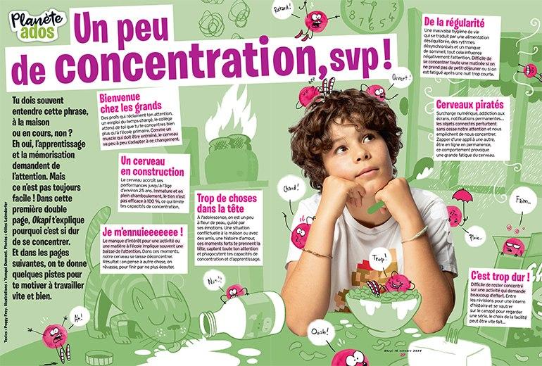 Un peu de concentration, svp ! Illustrations : Yomgui Dumont. Photos : Gilles Leimdorfer.