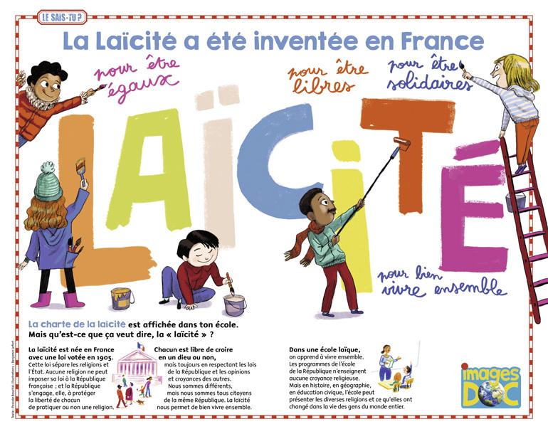 """""""La Laïcité a été inventée en France"""". Images Doc n°325."""