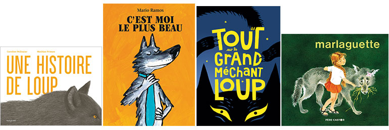 """Des livres sur le loup - """"La peur du loup"""", supplément pour les parents du magazine Pomme d'Api n°657, novembre 2020."""