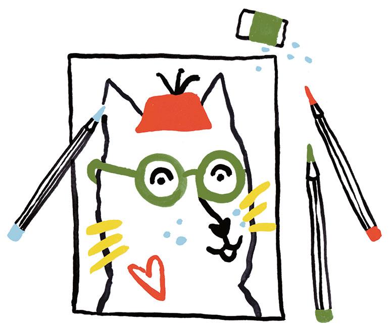 """""""La peur du loup"""", supplément pour les parents du magazine Pomme d'Api n°657, novembre 2020. Texte : Joséphine Lebard. Illustration : Marie Assénat."""