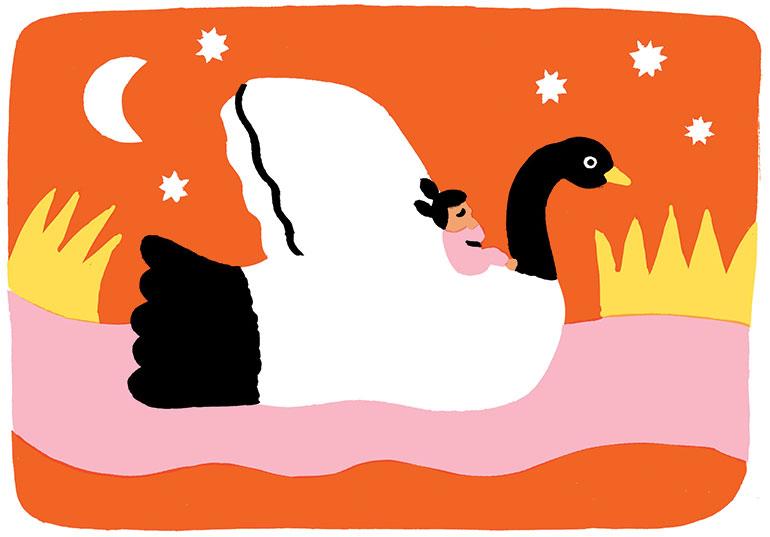 """""""Un dodo sans histoires"""", supplément pour les parents du magazine Popi n°411, novembre 2020. Texte : Anne Bideault. Illustration : Julie Brouant."""