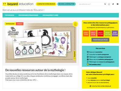 un écran du site bayardeducation.com 2020