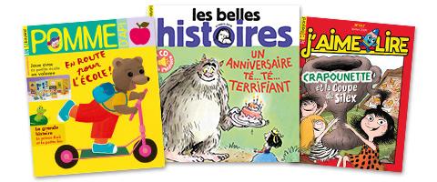 Magazines Bayard Jeunesse : Pomme d'Api - Les Belles Histoires - J'aime lire