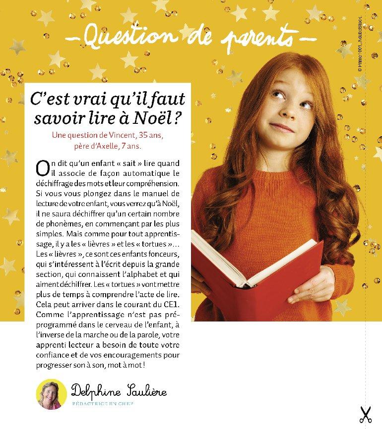 """Rubrique """"Question de parents"""" : """"C'est vrai qu'il faut savoir lire à Noël ?"""""""