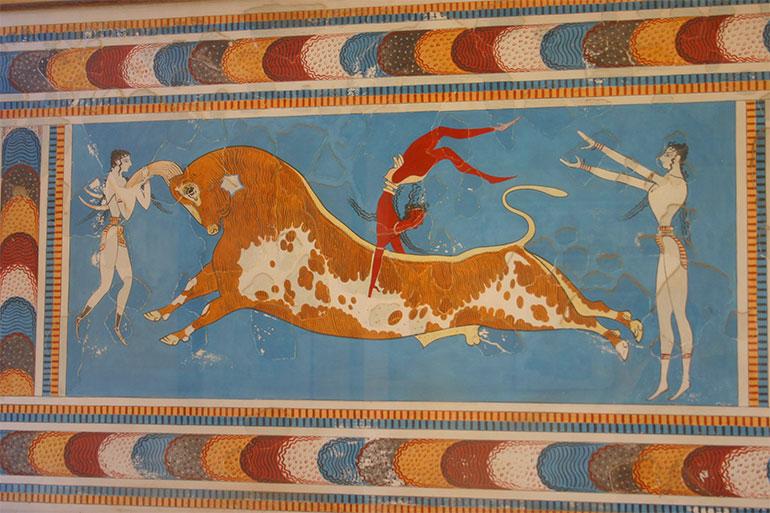Fresque voyage en famille en Crète, île de mythologie et de soleil