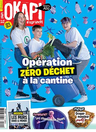 Okapi n°1100. Opération zéro déchet à la cantine. 15 novembre 2019.