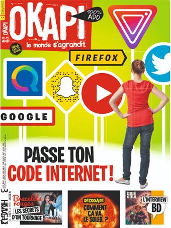Okapi n°1109. Passe ton code Internet. 1er avril 2020.