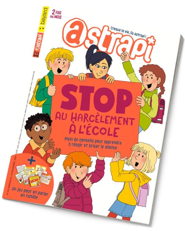 """Astrapi n°914 du 15 novembre 2018. """"Stop au harcèlement à l'école"""""""