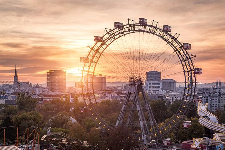 © AdobeStock. La grande roue du parc d'attractions du Prater à Leopoldstadt, Vienne, Autriche.