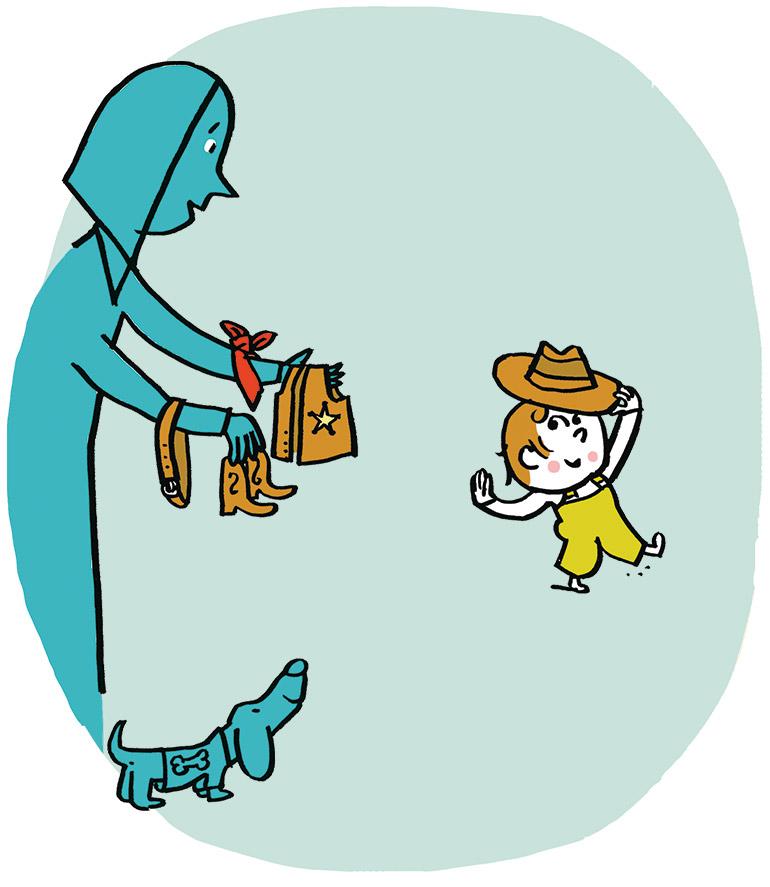 Et si mon enfant n'aime pas se déguiser ? Illustration : Pascal Lemaître.