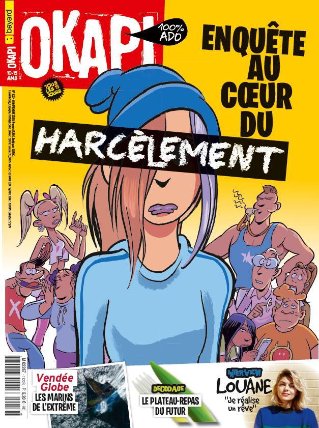 """Okapi n°1122 du 15 novembre 2020. """"Enquête au cœur du harcèlement"""""""