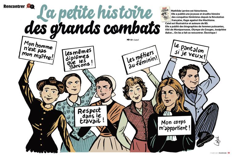"""Égalité filles-garçons, où en est-on ? Phosphore n°505, 1er mars 2021 - """"La petite histoire des grands combats"""""""