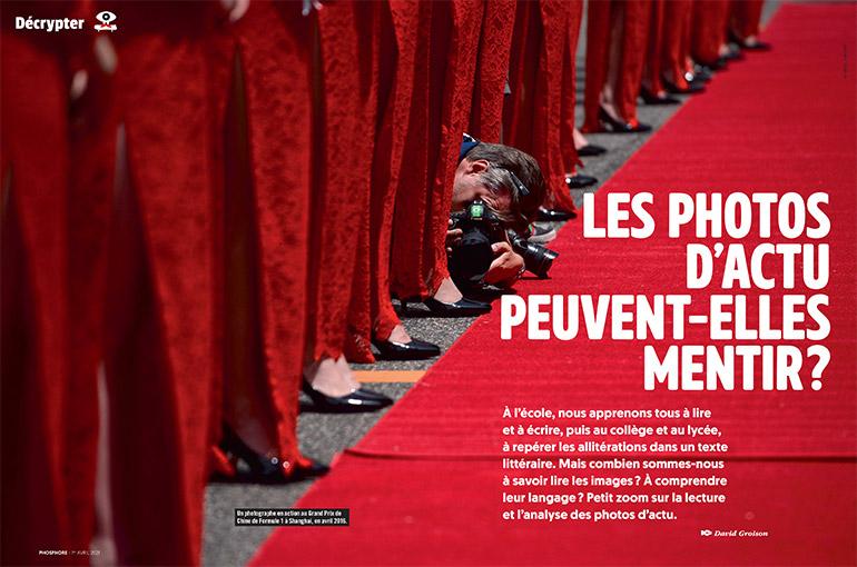 © WANG ZHAO/AFP. Extrait du magazine Phosphore n°507. Les photos d'actu peuvent-elles mentir ?