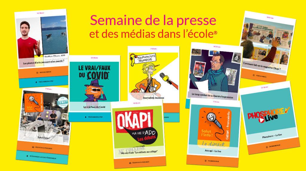 Semaine de la presse et des médias dans l'école® 32e édition - 2021