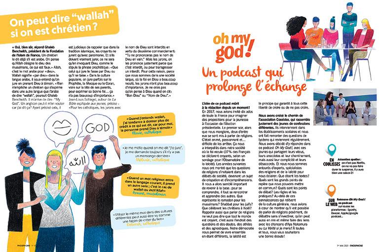 """© Matthieu Méron. On peut dire """"wallah"""" si on est chrétien ? Oh My God, un podcast qui prolonge l'échange."""