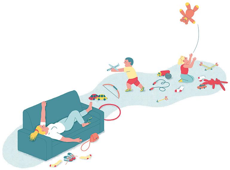 Maman solo. Illustration : Popy Matigot.