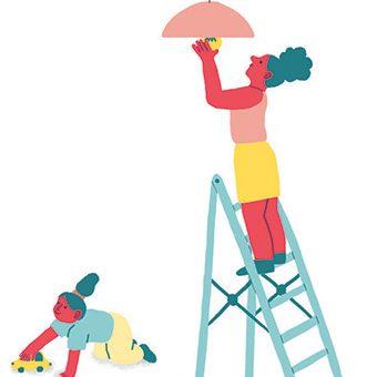 Maman solo, on apprend à faire soi-même. Illustration : Popy Matigot.