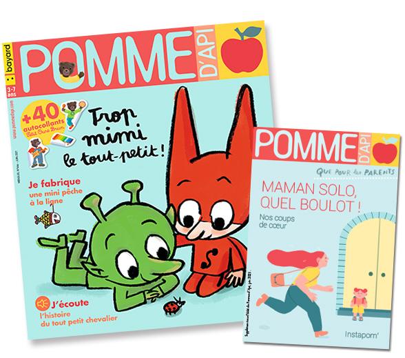 Couverture du magazine Pomme d'Api, et son supplément pour les parents, n°664, juin 2021