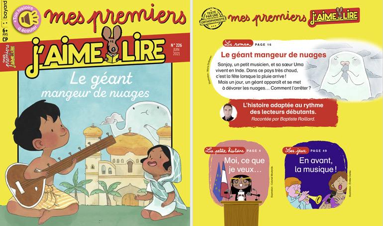 Sommaire du magazine Mes premiers J'aime lire n°226, juin 2021