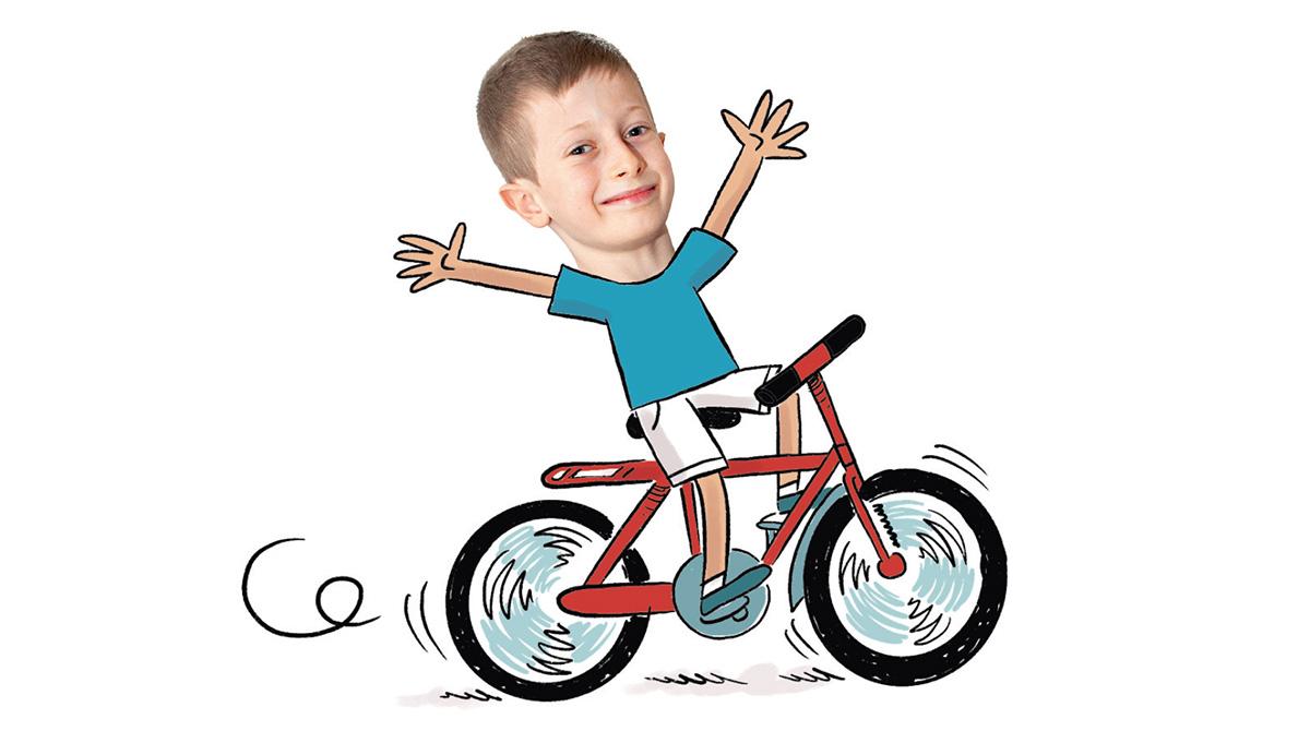 """""""Labo science, quel est le secret du vélo ?"""", Images Doc n°379, juillet 2020. Texte : Erik Franck. Photo : © Rebecca Josset (enfant)."""