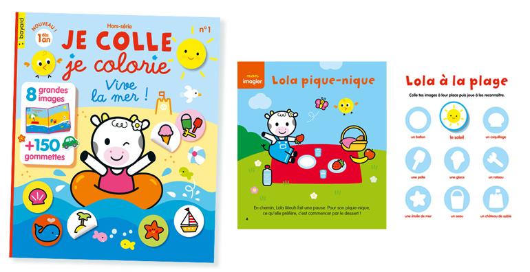 """Hors-série """"Je colle je colorie"""", Vive la mer ! N°1 - Dès 1 an. 8 grandes images + 150 gommettes"""