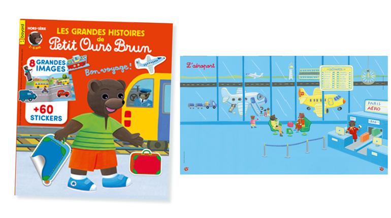 """""""Les Grandes Histoires de Petit Ours Brun - Bon voyage !""""- 2-6 ans - 8 grandes images + 60 stickers"""