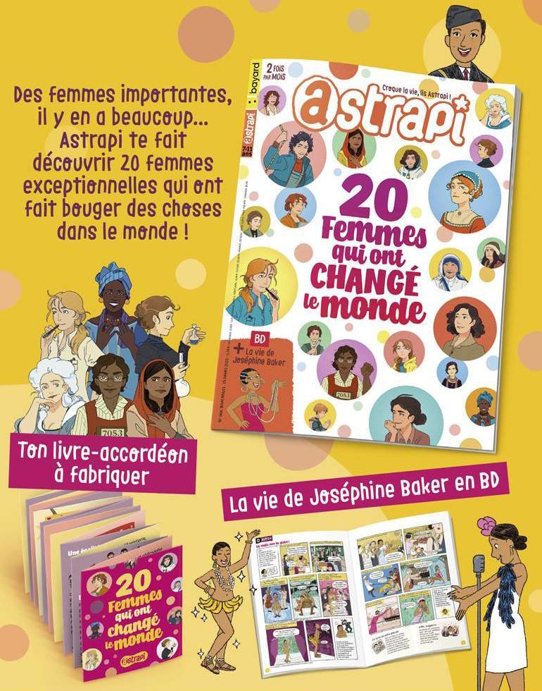 20 femmes qui ont changé le monde - Astrapi n°966 - 15 mars 2021