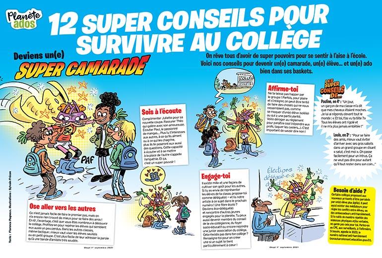 Deviens un(e) Super camarade ! Illustrations : Sylvain Frécon
