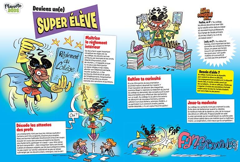 Deviens un(e) super élève ! Illustrations : Sylvain Frécon.
