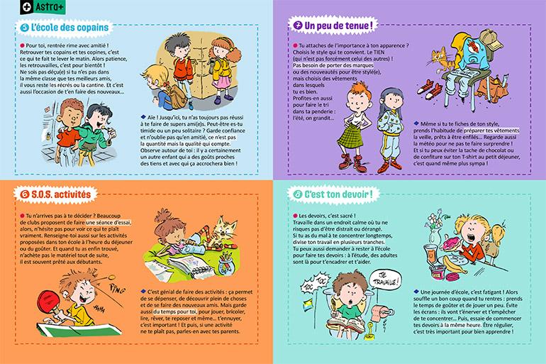 Copains, activités, tenue, devoirs : les conseils d'Astrapi pour une rentrée réussie.