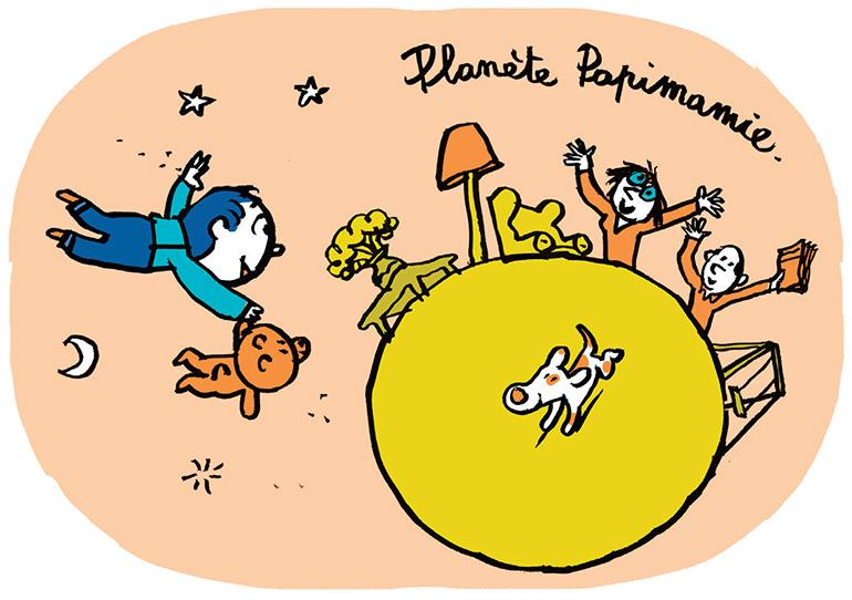 Planète Papimamie. Illustrations : Pascal Lemaître.